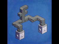 The powerful tentacles of Facebook — pixel art
