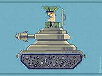 General Mayhem — cartoony vector character design / illustration