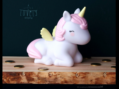 Unicorn money box product design