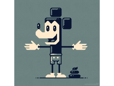 Mickey the Poo parody satire characterdesign character design graphicdesign vectorillustration vector illustration retro cartoon shit turd poo mouse mickeymouse