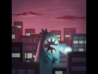 Godzilla 3D artwork