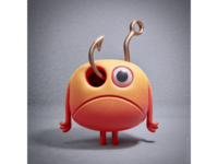 Unfortunate accident - 3D character