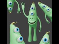 Bix the friendly alien character