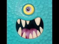 Cartoony monster face