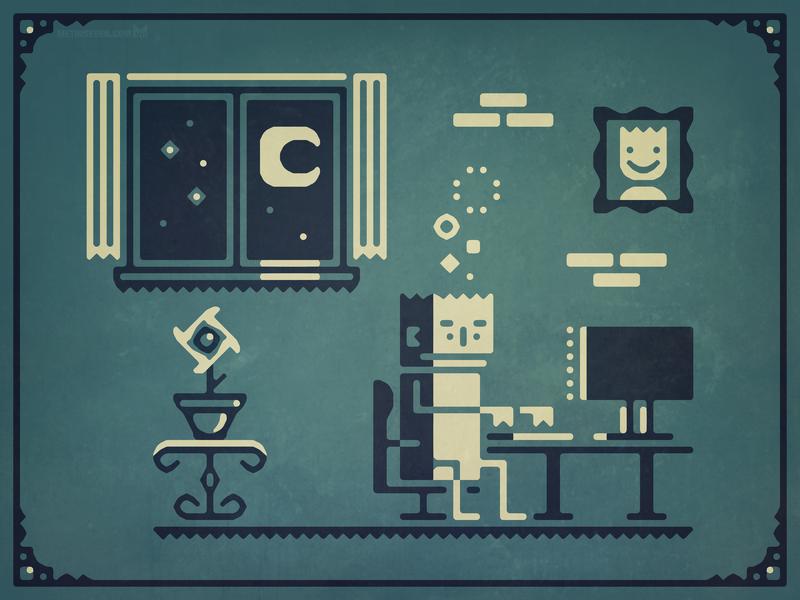 Screenstruck — Stylized graphic illustration