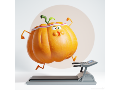 Getting in shape for Halloween — 3D illustration