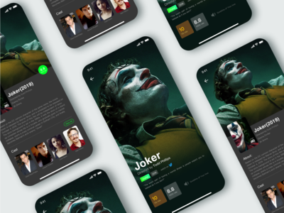 Interface design of clown film and television