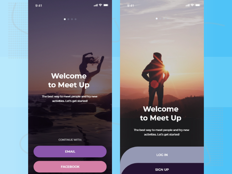 Login Or Sign Up Page by Sagor Biswas on Dribbble