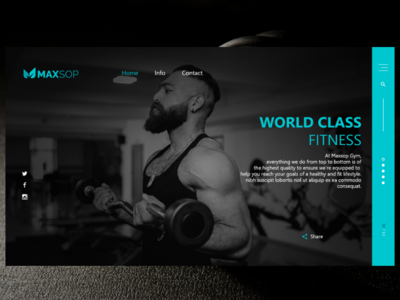 Personal Gym portfolio
