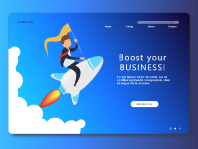 Boost Landing Page