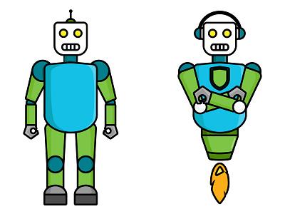 robot fiverr design creative character portrait work illustration art vexel vector illustrator