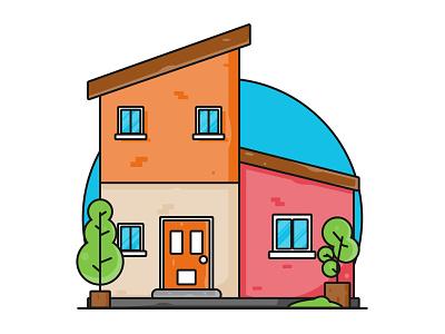 House Icon Flat Design minimalist flatdesign icon portrait work illustration art vexel vector illustrator