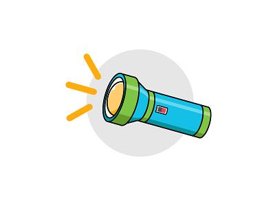 flashlight icon branding logo design creative portrait illustration art vexel vector illustrator