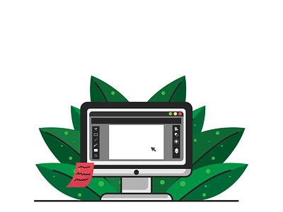 desktop flat illustration design creative character portrait work vexel illustration art vector illustrator