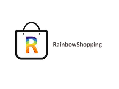 rainbowshopping concept