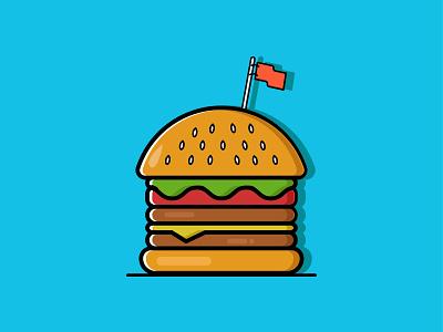 burger db 01 fiverr design creative character work portrait illustration art vexel vector illustrator