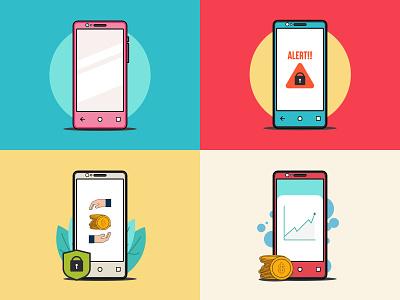 phone app phone icon minimalist flat work illustration art vexel vector illustrator