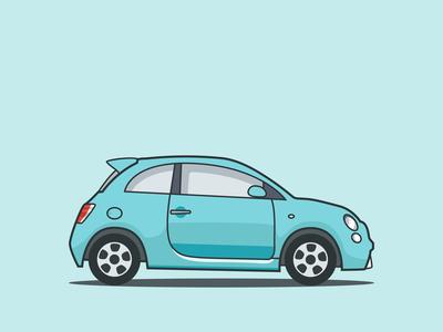 Fiat blue electric car