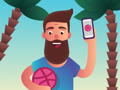 Dribbble man illustration