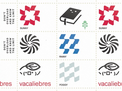 Stamps weather rain sun dutch icon branding marks mark logo symbol abstract modernist modernism
