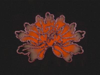 Botan (Peony) japanese texture gradients illustrations botanical botanic japan tattoo horimono irezumi flower hana peony botan