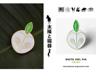 Owl Pin enamel pin badge badge logo woods holy barn owl leaves leaf owl pin game pins pin enamel pin