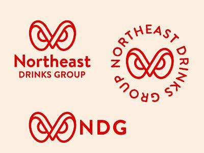 Northeast Drinks Group branding modernism illustration bird icon mark marks symbol logo vermont drinks apple owl
