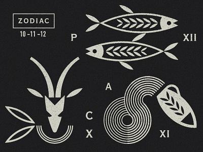 Capricorn / Aquarius / Pisces astrology greek symbols aquario acquario antilope capricorn aquarius fish pisces zodiac