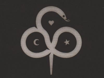 Feeling snake moon half moon heart star flower clubs hurt love feel feeling feelings