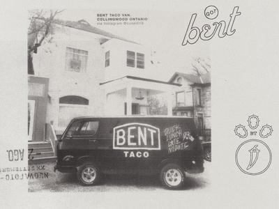 Bent Taco Van logo van mexican canada ontario collingwood tacos bent bent taco
