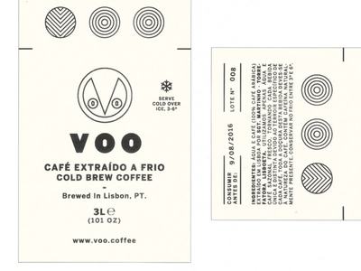 Voo Cold Brew. 3L label beverage carrier.