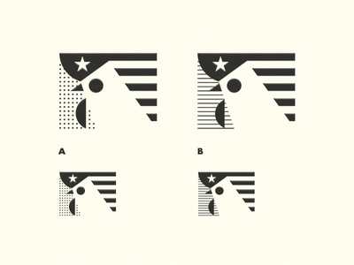 HELP: dots or lines?   usa france dots lines dot line rooster symbol mark help