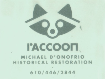 D° Raccoon mdhr philly gistorical restoration logo avatar icon marks mark animal donofrio raccoon mascot