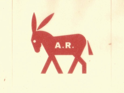 Asino Rosso (Âne Rouge in French). rouge spsychology symbol logo mule animal mark rosso red ane asino donkey