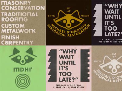 D°ONOFRIO INC. wes anderson 1960 identity brand branding main line philadelphia mdhr historical restoration michael donofrio donofrio