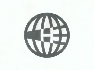 Homecoming logo meridian parallel symbol mark homecoming h midcentury globe atlas earth world