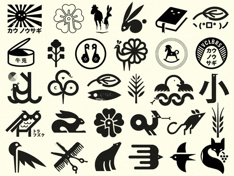 Lil marks modernism animal logos logo pinto pictogram sign signs symbols mark marks