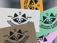 MDHR Raccoon Cards LPressed by Paper Meets Press