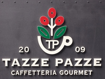 Tazze Pazze signage and more. specialty coffee areopress brewing espresso genova tazze pazze cafe specialty coffee