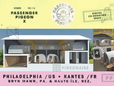 PPX/Pigeonaire Render branding huts hut q-huts usa donofrio philadelphia nantes france work space co-working ppx x pigeon passenger