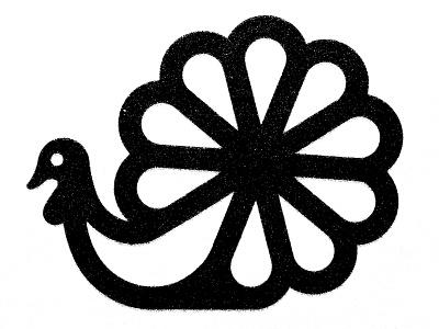 Thanksgiving modernist moderinism tacchino bird logo mark usa holidays turkey thanksgiving