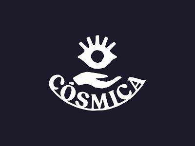 Còsmica logo symbolism iconic hadndrawn primal hand brand logo branding restaurant mexican eye cosmic eye cosmica