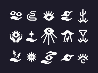 Còsmica iconographic system boston logosai logos symbolset icon design symbols picto pictos ufo cactus tacos mixican eye icons icon