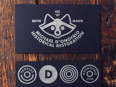 MDHR business cards by paper meets press trash panda raccoon logo business cards design symbol business cards stationery bcards cards business cards