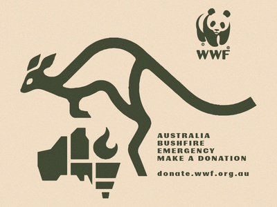 Australia Bushfire Emergency animal jumping flame blaze icon panda kangoo donate alert emergency aus bushfire bushfire fire wwf kangaroo australia