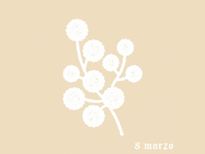 mimosa mark x 8 marzo craft handcraft ottomarzo seul goods handmade seoul picto flowers leather leather goods south korea logo icon 8 march plant mark mimosa