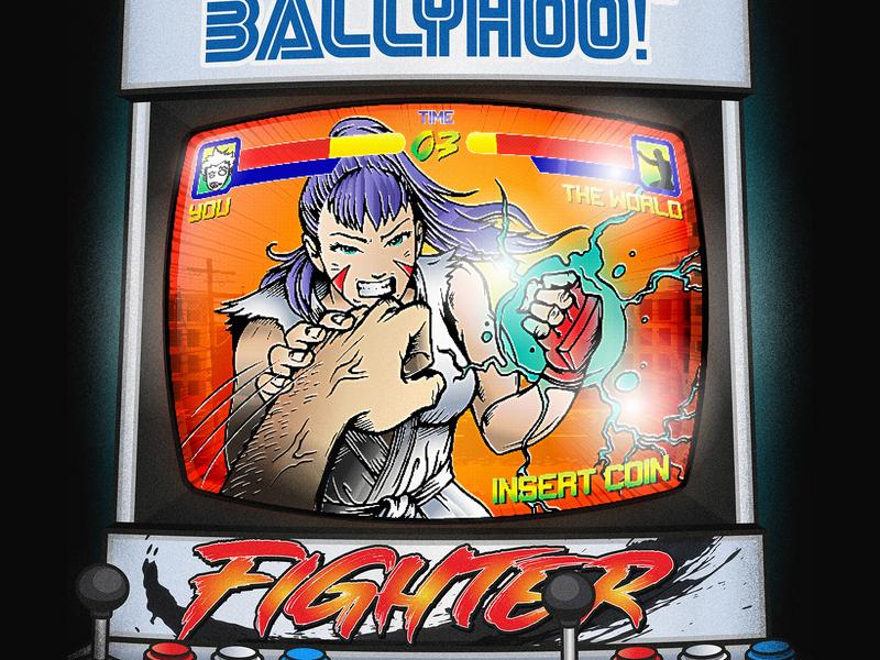 Ballyhoo! Fighter - Single Album Art scott pilgrim anime illustration gaming arcade