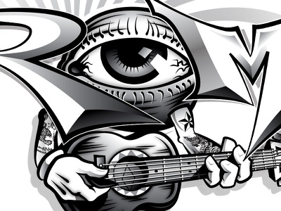 ROME (Sublime w/ Rome) Tee Design Concept Detail window to the soul eye eyeball sublime with rome rome