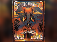 Stick Figure One Love Custom Poster Art