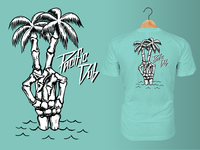 Pacific Dub Mens Bone Palms Tee